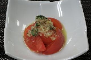トマトのマリネ バジル風味
