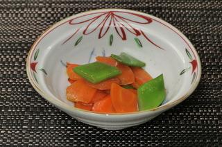 人参とモロッコ豆のオイスターソース炒め