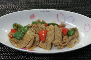 豚肉と青味野菜の味噌炒め