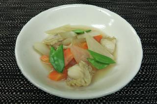 大根と帆立貝の煮物