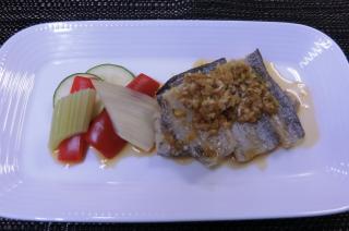 太刀魚の黒酢ソース