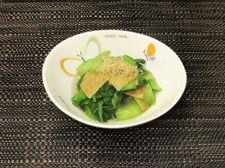 青梗菜と板麩のお浸し